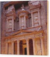 Jordan, Petra, The Treasury Wood Print by Nevada Wier