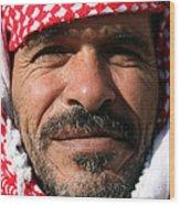 Jordanian Man Wood Print by Munir Alawi