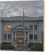 Josephine County Court House Wood Print