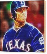 Josh Hamilton Magical Wood Print by Paul Van Scott