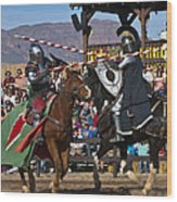 Joust To The End... Wood Print