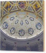 Jp Morgan Library Ornate Ceiling Wood Print