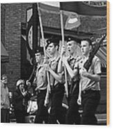 Jrotc Carrying Flag In The Parade Wood Print