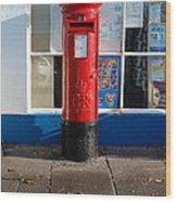 Jubilee Postbox Wood Print