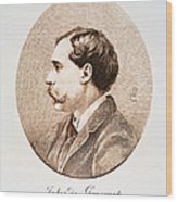 Jules A.h. De Goncourt (1830-1870). French Novelist: Engraving After A Contemporary Portrait On Enamel Wood Print