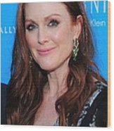 Julianne Moore At Arrivals For The Kids Wood Print by Everett