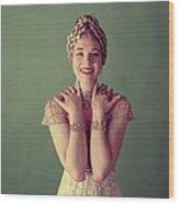 Julie Andrews, Mid-late 1950s Wood Print