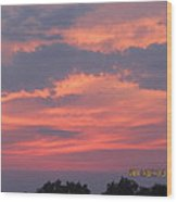 July 10 Sunset One Wood Print