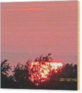 July 16 Sunset Four Wood Print