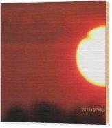 July 16 Sunset One Wood Print