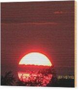 July 16 Sunset Six Wood Print