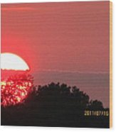 July 16 Sunset Three Wood Print