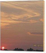 July 16 Sunset Two Wood Print