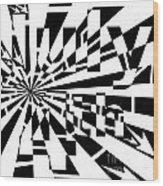 July 4th Maze Wood Print