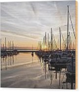 July Evening In The Marina Wood Print