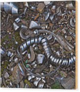 Junkyard Macro No. 16 Wood Print