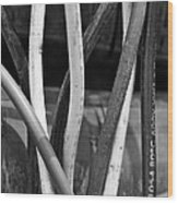 Junkyard Macro No. 22 Wood Print