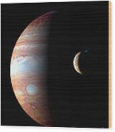 Jupiter And Io Wood Print