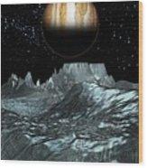 Jupiter From Europa, Artwork Wood Print