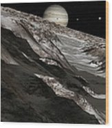 Jupiter From Ganymede, Artwork Wood Print