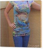 Jupiter Performance Ladies Shirt Wood Print