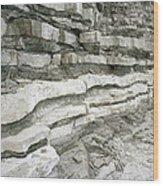 Jurassic Rock Strata Wood Print