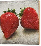 Just 2 Classic Berries Wood Print