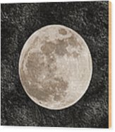 Just A Little Ole Super Moon Wood Print by Andee Design