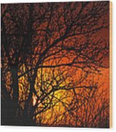 Just A Pretty Sunrise Wood Print