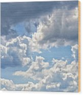 Just Clouds Wood Print