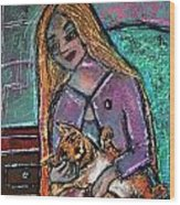 Just Fine Alone  Wood Print by Tammy Cantrell
