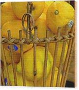 Just Lemons Wood Print