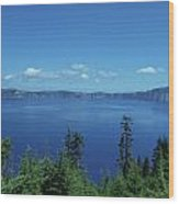 Just One Part Of Crater Lake Wood Print
