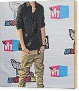 Justin Bieber At Arrivals For 2011 Vh1 Wood Print