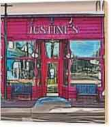 Justine's Ice Cream Parlour Wood Print