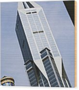 Jw Marriott Tower In Downtown Shanghai Wood Print by Jeremy Woodhouse