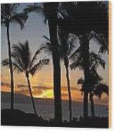 Ka'anapali Sunset Wood Print