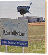 Kaimkillenbun Sign Wood Print by Joanne Kocwin