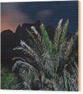 Kalalau Mountains At Night Wood Print