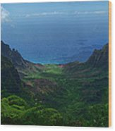 Kalalau Valley 3 Wood Print by Ken Smith