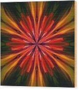 Kaleidoscope Floral 121011 Wood Print