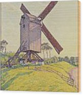 Kalf Mill Wood Print