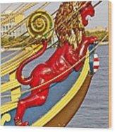 Kalmar Nyckel Red Lion Wood Print