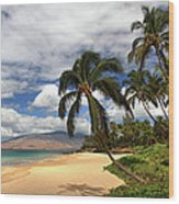 Kamaole Tropical Landscape Wood Print