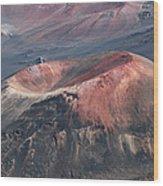 Kamaolii Cinder Cone - Haleakala Crater - View From Kalahaku  Wood Print