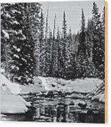 Kananaskis Creek Wood Print