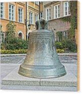 Kanonia Square In Warsaw Wood Print