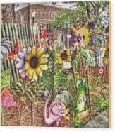 Kansas Flower Market Usa Wood Print
