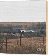 Kansas Lake Wood Print