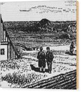 Kansas, Mennonites, C1874 Wood Print